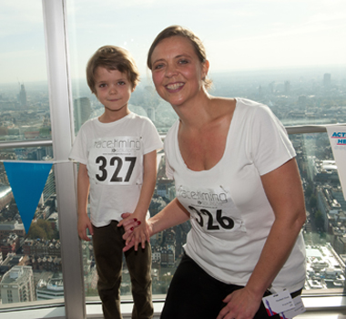 Five Year Old Takes On BT Tower Climb To Help His Grandad