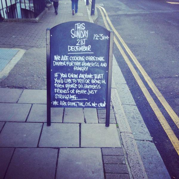 Pub Gives Away Free Christmas Dinners To Homeless People