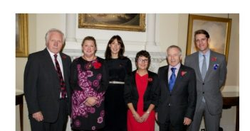 Megan, Dimbleby Cancer Care Volunteer Meets Samantha Cameron
