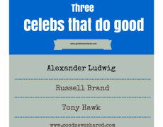Alexander Ludwig, Russell Brand and Tony Hawk: 3 Examples of Celebrities Doing Good
