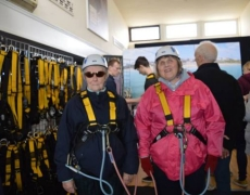 Blind and Partially Sighted People Take Part in First Ever Pier to Shore Zip Wire Experience