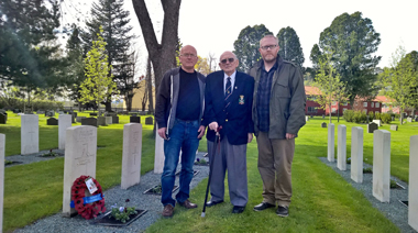 Veteran visits his brother's grave after 75 years apart