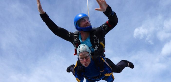 Supergran's 120 mph skydive for trees!
