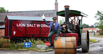 Ainsley Harriott Celebrates the Lion Salt Works being voted the UK's Best Heritage Project