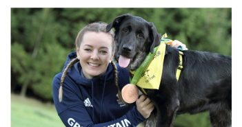 Leeds Olympian gets pup on track to new home