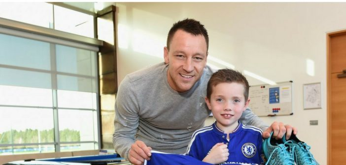 Bobby with John Terry. Photo: Make a Wish