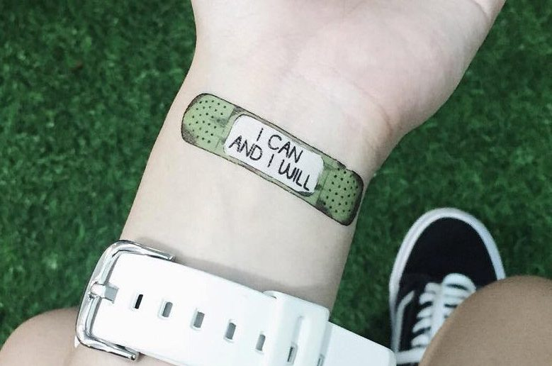 Motivational Tattoos a Pick Me Up for Those Less Great Days