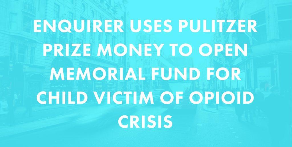 Local Cincinnati Paper Opens Memorial Fund for Daughter of Heroin Interviewee
