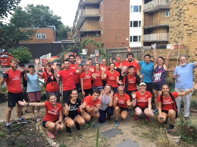 Charity work at a racing pace: runners help local community garden