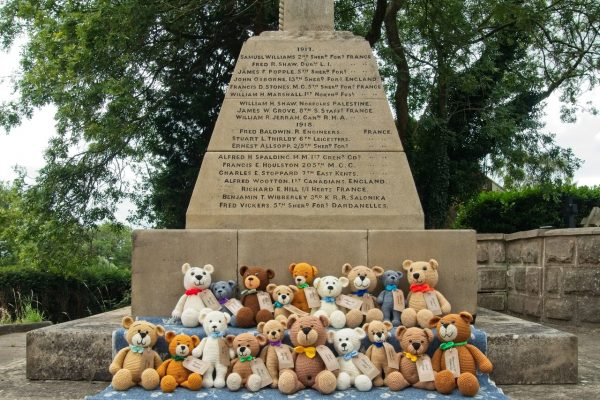 37 bears for the 37 village soldiers who never returned from the Great War