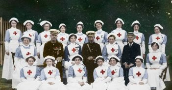 Never before seen photos of heroic British Red Cross WWI volunteers brought to life in full colour 100 years after armistice