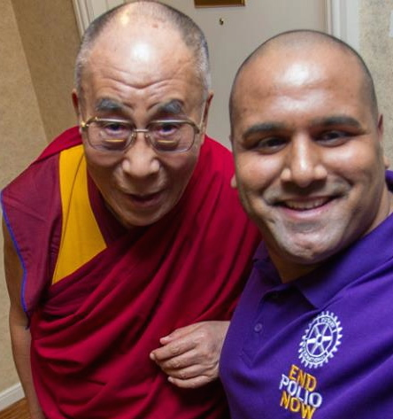 The Best Selfie Ever - Dalai Lama & Ramesh Ferris - End Polio Campaign