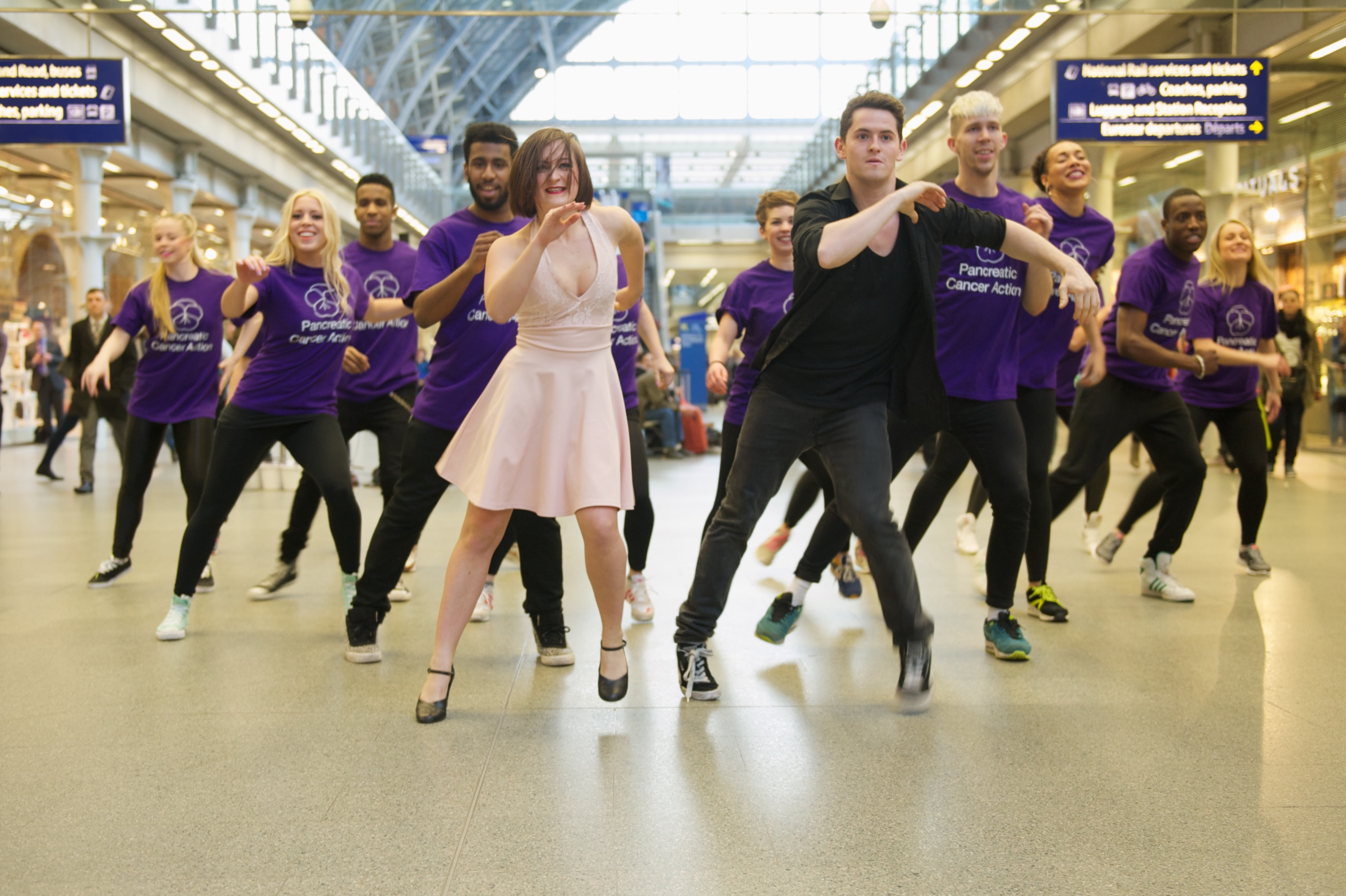 St Pancras International becomes 'St Pancreas' for impromptu charity flash mob