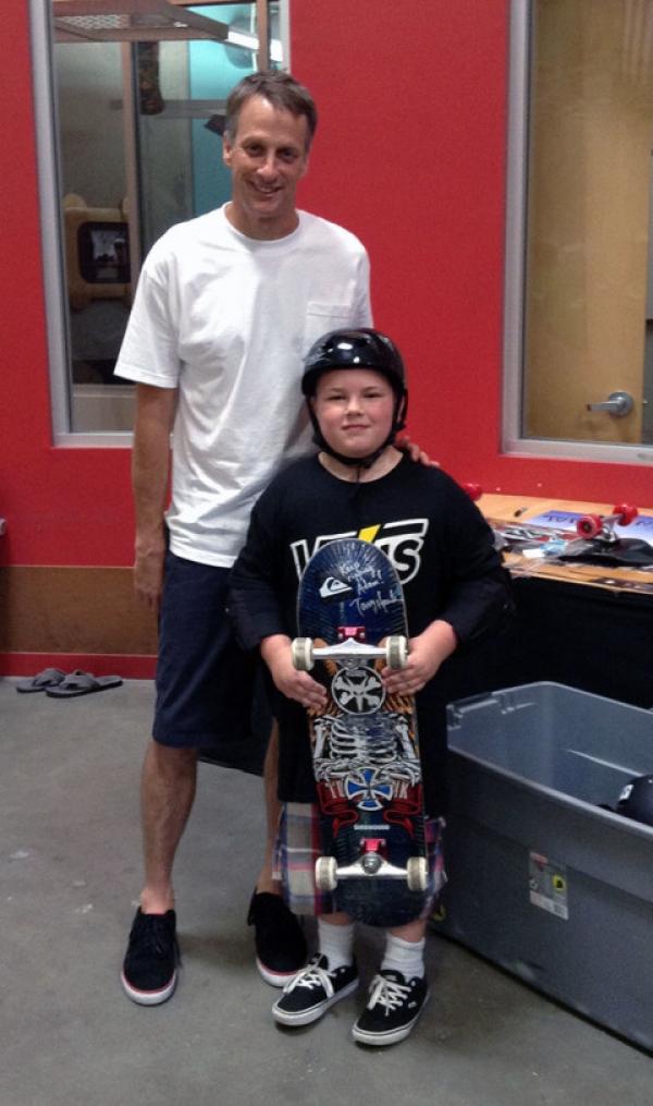 Kids Wish Network and Tony Hawk Grant Wish for Florida Boy
