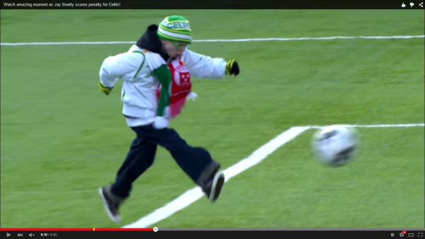 Jay Beatty, Celtic Fan with Down's Syndrome wins SPFL Goal of the Month Award