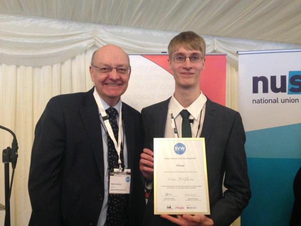 Bristol Engineering Student wins Student Volunteer of the Year Award