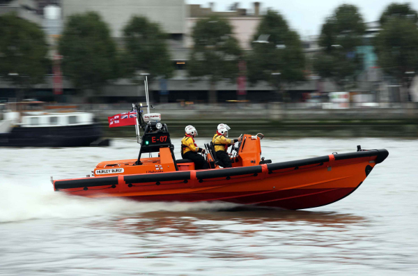 RNLI London lifeboat crew save two tourists and a bar worker from drowning