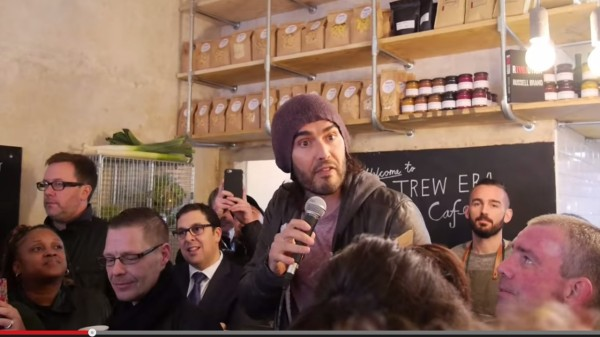 Russell Brand Opens a Social Enterprise Café in London