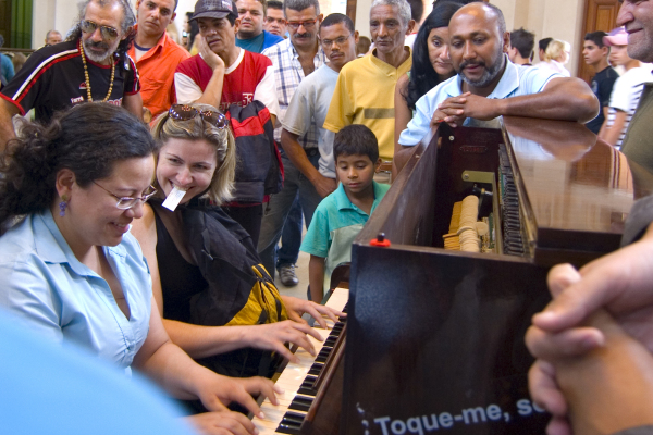 Street Pianos Reach Diverse Audience Who Don't Ordinarily Have Access to Art