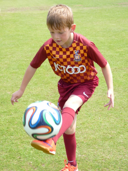 8-year-old boy with Cystic Fibrosis joins Bradford City Football Academy