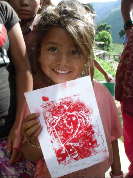 Using Art to Rebuild a Community in Nepal