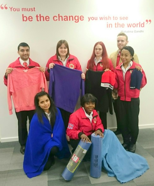 Young Volunteers Use Entrepreneurial Skills to Turn Christmas Funds into Support for Local People