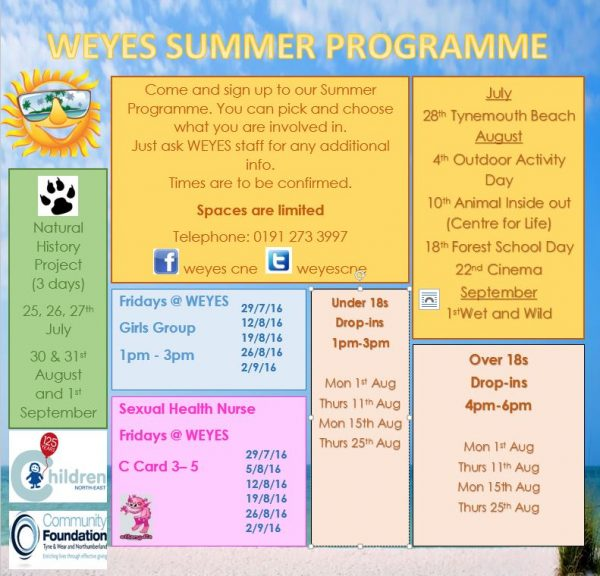 Drop In helps lonely young people over summer holidays in Newcastle