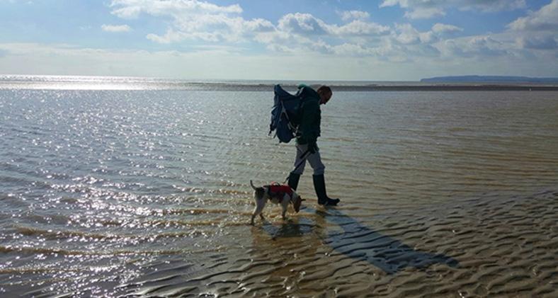Blind Dog Basil Walks 200 Miles on Coast to Coast Adventure