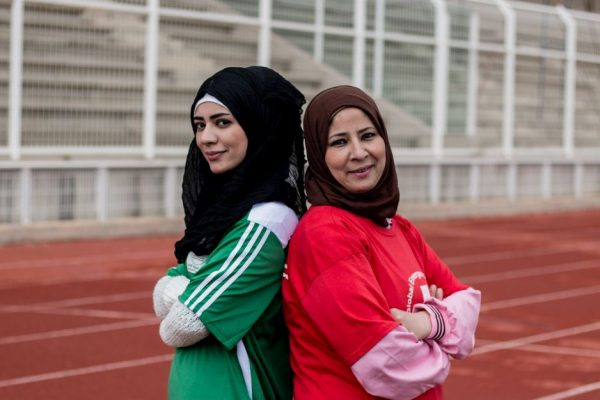 The all-female refugee football team shattering that glass ceiling (and scoring goals while they're at it)