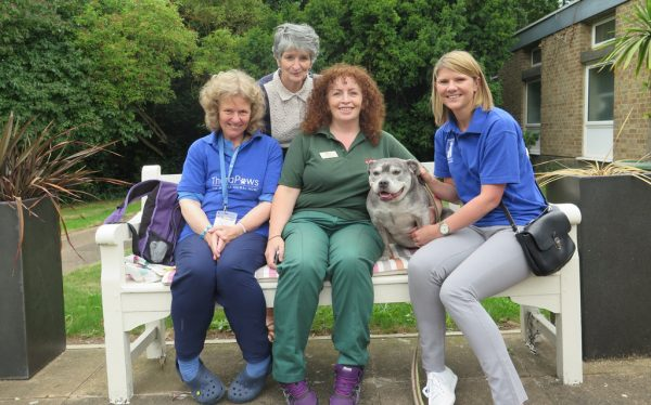 Rescue Dog Lola Visits Residential Home to Give Cuddles and Love