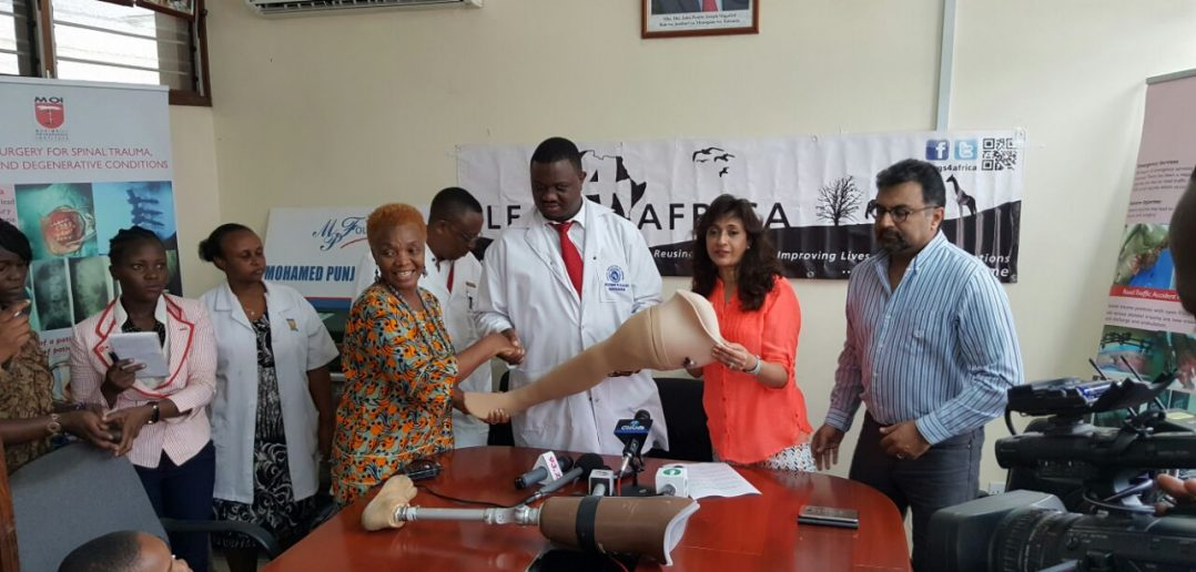 500 prosthetic legs donated from the UK to Tanzania
