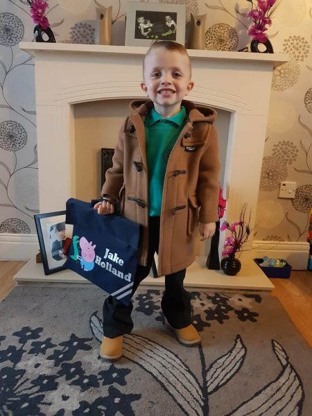Two Boys Ready for School Despite the Odds