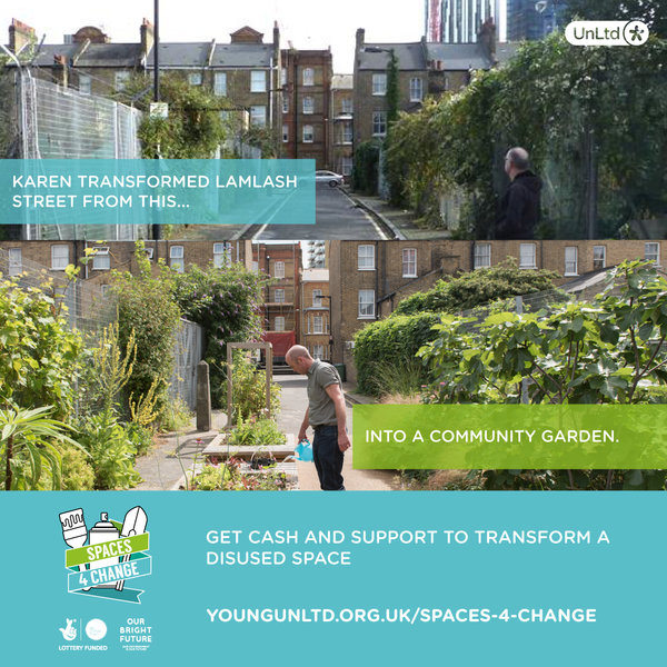£5,000 Grant Available for Young People to Transform a Space