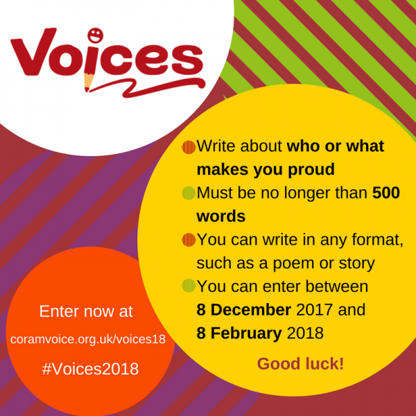 Who or What Makes You Proud?: Children in Care and Young Care Leavers Asked To Express Their Talents in Creative Writing Competition