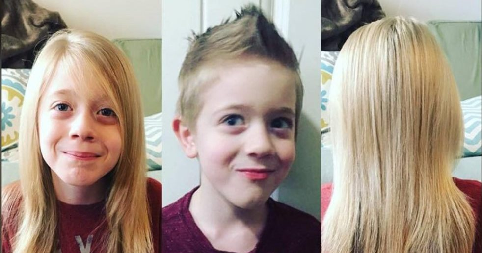 """I just love helping people"" – 8 Year Old Boy Donates Hair to Help Children with Cancer"