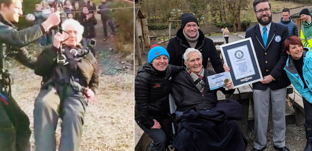 Fearless Centenarian Sets Third Guinness World Record by Riding Zip Wire on His 106th Birthday