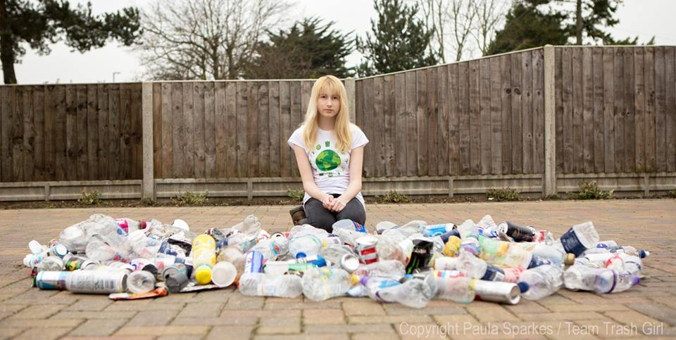 """Meet the 12-Year-Old Eco-Warrior Dubbed """"Trash Girl"""""""
