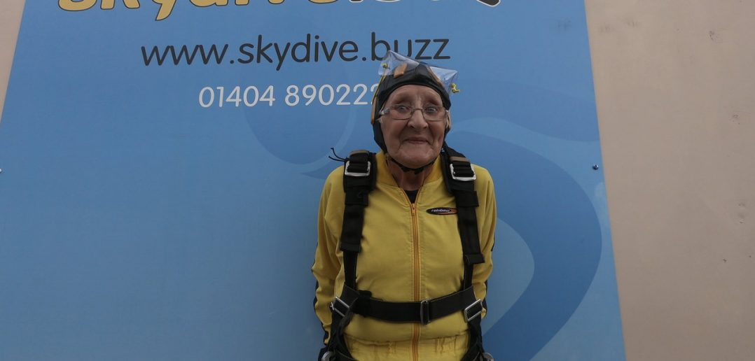 81 year old cancer survivor skydives to change perceptions of older people