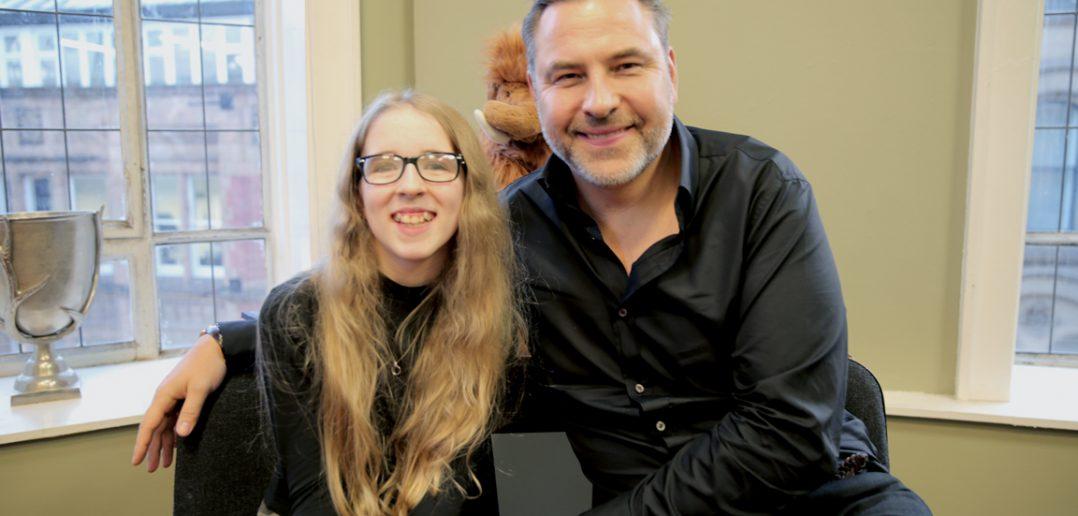 Vision-Impaired Lauren, 12, Interviews Celebrity Author David Walliams