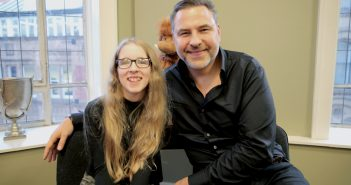 Vision-Impaired Lauren, 12, Interviews Celebrity Author David Walliams
