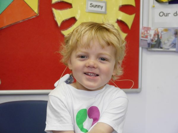 Adorable moment deaf children showcase festive singing skills