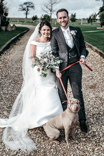 There's a 'howl' lot of love as rescue dog steals the show at wedding