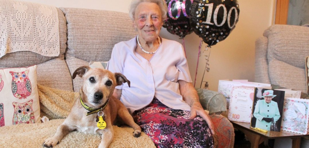 100-year-old dog lover gives old rescue pooch his longed for furry-tail ending