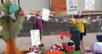 """Grassroots to New Shoots"" Growers in Hull transform a local parking lot with their produce in a statement about food circulation and rewilding"