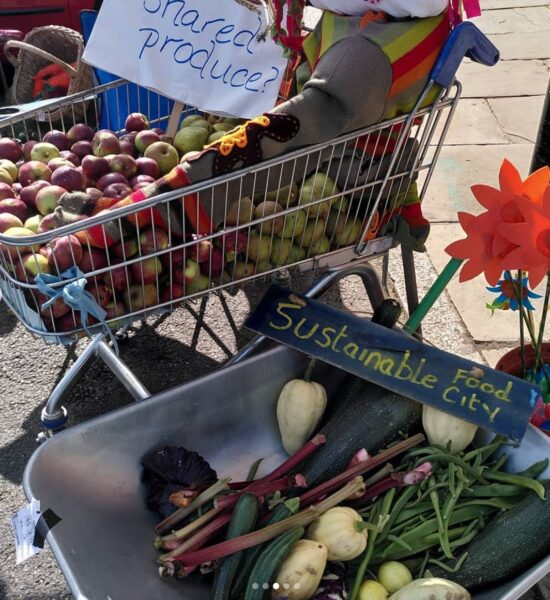 """""""Grassroots to New Shoots"""" Growers in Hull transform a local parking lot with their produce in a statement about food circulation and rewilding"""