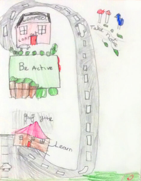 The 5 Ways to Wellbeing Project Gives Children Space to work on their mental health