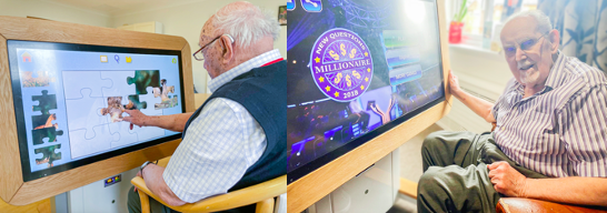 Digital Rainbow Table Helping to Engage, Stimulate and Support Wellbeing at Care Home